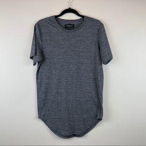PACSUN | Longer Fit Tunic Grey Top Tee Shirt Small